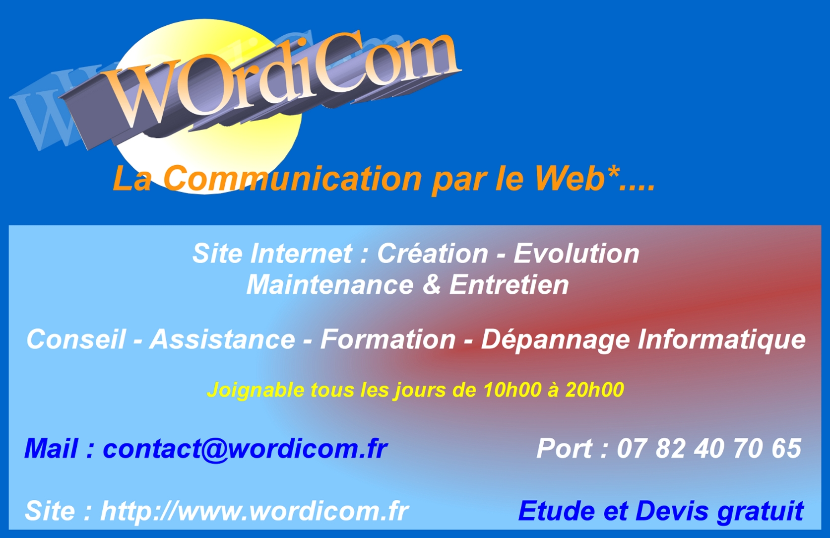 Carte visite wordicom